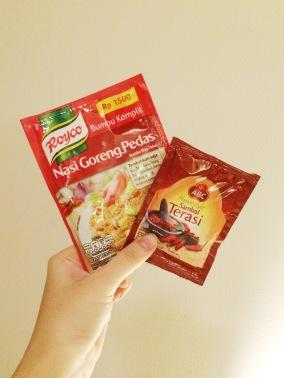 fried rice powder and THE sambal terasi omggg